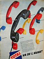 PUBLICITÉ DE PRESSE 1961 TOTAL VA DE L'AVANT - ALLO TOTAL - TÉLÉPHONE
