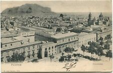 1905 Palermo panorama città tetti palazzi case monte Bordeaux France FP B/N VG