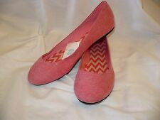 Women's Wal Mart Brand Ballet Flats Solid Pink Size 9  NEW Casual Shoes