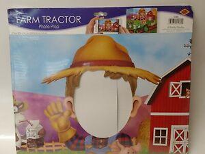 Farm Farmer Tractor Photo Prop Red Barn Farm Kids Birthday Party Decorations
