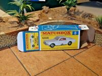 MATCHBOX 'REG. WHEELS' NO.8E, FORD MUSTANG CUSTOMISED DISPLAY/STORAGE BOX ONLY