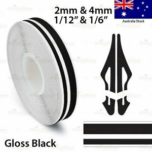 "1/2"" Vinyl Pinstriping PinStripe Styling Double Tape Sticker 12mm GLOSS BLACK"