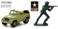 Greenlight 1:64 Hobby Exclusive 2016 Jeep Wrangler U.S Army with Soldier Figure