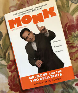 Mr. Monk and The Two Assistants HARD COVER Comedy L Goldberg BRAND NEW NWT