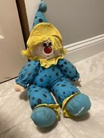 Cuddle Wit Doll Plush Clown Circus Rare Collectible Vintage