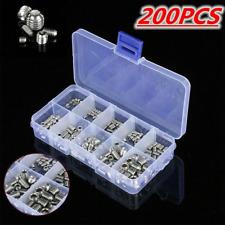 200pcs Stainless Steel Hex Socket Set Screw Grub Screws Assortment Kit Box M3-M8