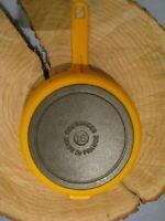 Vintage Sunflower Yellow Cousances Le Cresant # 18 Cast iron Enamel Pan / No lid