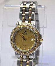 RAYMOND WEIL Tango #5360 Two-Tone 48 Diamonds Gold Dial  Women's Swiss Watch