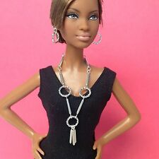 Silver Doll Jewelry For Silkstone Barbie Fashion Royalty Over Age 14 S826