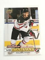 F60410  2019-20 Upper Deck Canvas #C269 Philippe Myers POE CANADA