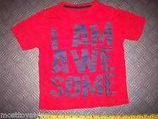 """T-Shirt REBEL for 3-4 year olds Top Quality Cotton """"I AM AWESOME"""" Good Condition"""