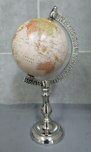 Globe of The World. Chrome Stand.