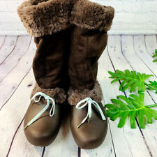 Crocs Brown Faux Fur Fleece Lined Pull On Slouchy Boots Womens 9W