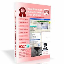 CNC Mill Controller Software for 4 Axis Step Motor Using PC Parallel Port 2CD's