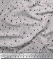 Soimoi Grau Baumwoll-Voile Stoff web & Spinne Insekt Stoff Meterware-nlZ