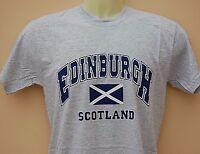 SCOTLAND HOMECOMING EDINBURGH ST ANDREWS FLAG T-SHIRT GRAY Small
