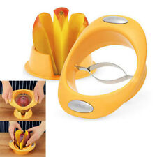 100% Genuine! AVANTI Mango Slicer Cutter Pitter Peeler with Holder Yellow!