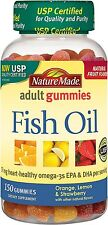 Nature Made Adult Gummies Fish Oil Gummies, Assorted Flavors 150 ea (Pack of 3)