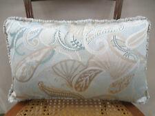 Jf Fabrics Lumbar Pillow Pattern Astoria Silk Paisley Feather Down 19 In x 12 In