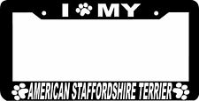 American Staffordshire Terrier paw print Plate Frame
