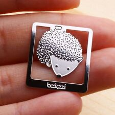 Mini Metal Silver Color Bookmark Hedgehog My Cute Pet Index Clip Thin & Light