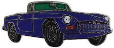 MG MGB Chrome bumper car cut out lapel pin  - Blue