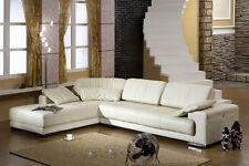 Design Voll-Leder Ecksofa-Sofa-Garnitur-Eckgruppe Ledersofa Ledergarnitur 5042-L