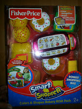 NIB Fisher Price Smart Shopper Colors Shapes Bakery rom pack NEW play food toy