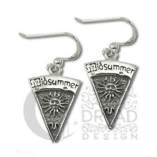 Dryad Designs Silver Sabbat  Midsummer  Litha Earrings by Paul Borda Wiccan