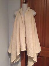 Zara Sleeveless Vest  Poncho  Cape Boho Ivory Wool Blend size S