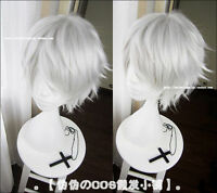 New Tokyo Ghoul Cosplay Wig Silver White Short Straight hair Wig + Free Wigs cap