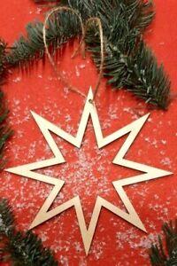 Weihnachtsstern Holzstern Christbaumschmuck Stern Deko Hängend