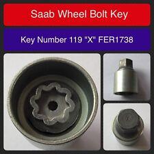 Saab Genuino Tornillo de fijación la rueda / Llave para Tuerca fer1738 119 forma