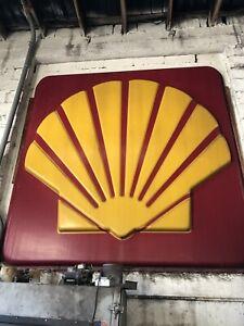 Large Original Vintage Shell Oil Gas Sign