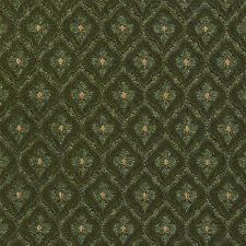 A473 Forest Green Diamond Clover Leaf Upholstery Fabric By The Yard