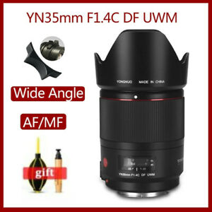 YONGNUO YN35mm F1.4C DF UWM Ultrasonic Wave Motor Wide Anglel Lens for Canon SLR