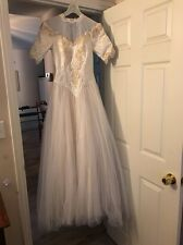Vintage Sweetheart Wedding Dress Union Made Rockabilly Retro Tulle Skirt Small