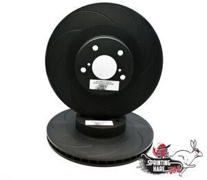 SH-JDM Grooved Front Brake Disc Set Fits: Subaru Impreza 4 Pot P1 WRX UK 2000 GC