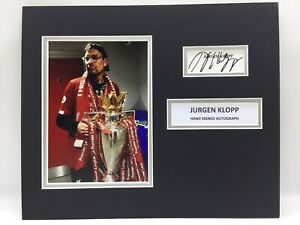 RARE Jurgen Klopp Liverpool Signed Photo Display + COA AUTOGRAPH PREMIER LEAGUE