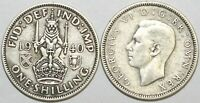 1937 to 1946 George VI Silver Scottish Shilling Your Choice of Date / Year