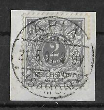 SAMOA GERMAN COLONIES 1901 Used on Paper Forerunner 2 Pf Grey