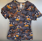 Mickey Mouse Halloween Scrub Top Womens Size Small Excellent Condition
