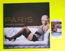 """PARIS HILTON SIGNED """"NOTHING IN THIS WORLD"""" DOUBLE VINYL RECORD WITH JSA COA"""