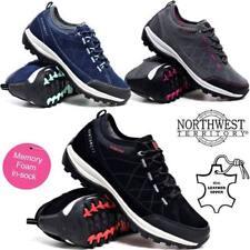 Ladies Womens Waterproof Leather Walking Hiking Memory Foam Boots Trainers Shoes