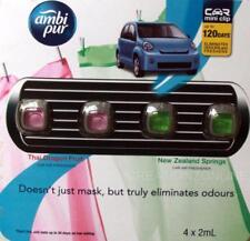 Ambi Pur Car Air Freshener Mini Clip Air Freshner  4 x 2mL Thai Dragon NZ Spring