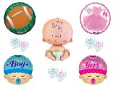 Touchdowns or Tutus Gender Reveal Balloons Decoration Supplies Baby Shower