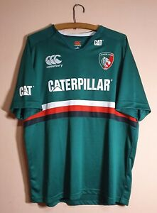 LEICESTER TIGERS Jersey Canterbury Hand Signed Shirt RUGBY - Size 3XL