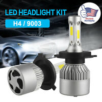 2Pcs CREE COB H4 9003 LED Headlight Kit 36W 6000LM Hi/Low Beam Bulb 6000K Lamps