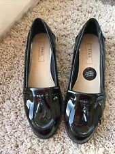 Black Patent Loafers Size 4 M&s
