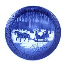 "Vintage 1984 ""Jingle Bells"" Royal Copenhagen Denmark Christmas Plate"